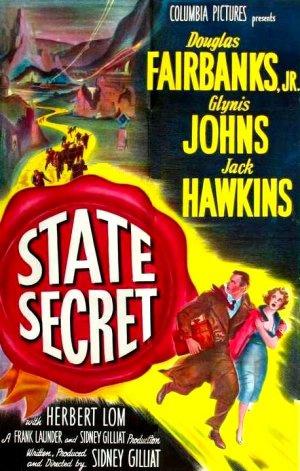 Nr.16415 --16mm-- State Secret (1950)Drama / Thriller  met Douglas Fairbanks Jr., Jack Hawkins en Glynis Johns, speelduur 102 minuten, zwartwit, Frans gesproken met Nederlandse ondertitels compleet met begin/end titeld