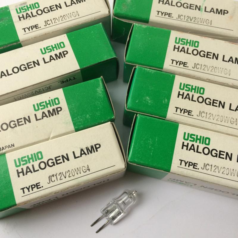 Nr. R126 USHIO Halofgeen lamp Type JC 12 volt 20W. G4