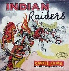 Nr.16365 --16mm-- Castle film , INDIAN RAIDERS met Lon Chaney Jr. 1942 western. Mooi zwartwit Engels gesproken 120 meter compleet met begin/end titels op spoel en in doos