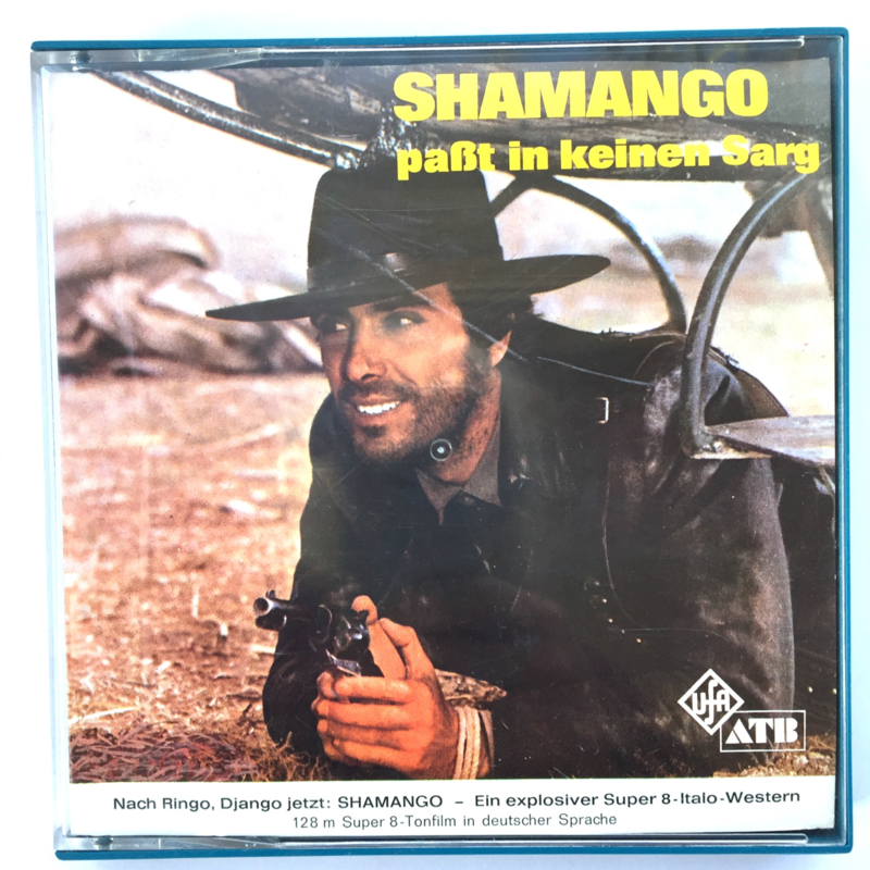 Nr.7262 --Super 8 sound --Shamango pabt in keinen Sarg, ca 120 meter zwartwit met Duits geluid, goede  copy in orginele doos