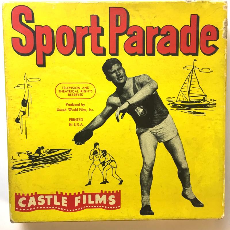 Nr.16326 -- 16 mm -- Castle film, Sportparade swimming & Diving Acescomplete edition, prachtige zwartwit film lengte ongeveer 120 meter orginele Castle film, zwartwit silent, compleet met begin/end titels in orginele doos
