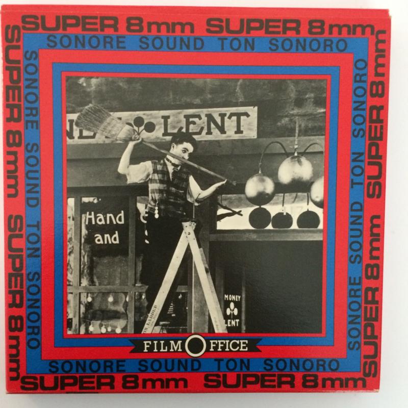 Nr.6552 --Super 8 SOUND, Charlie Emigrant, 120 meter zwartwit met geluid in orginele Film Office doos