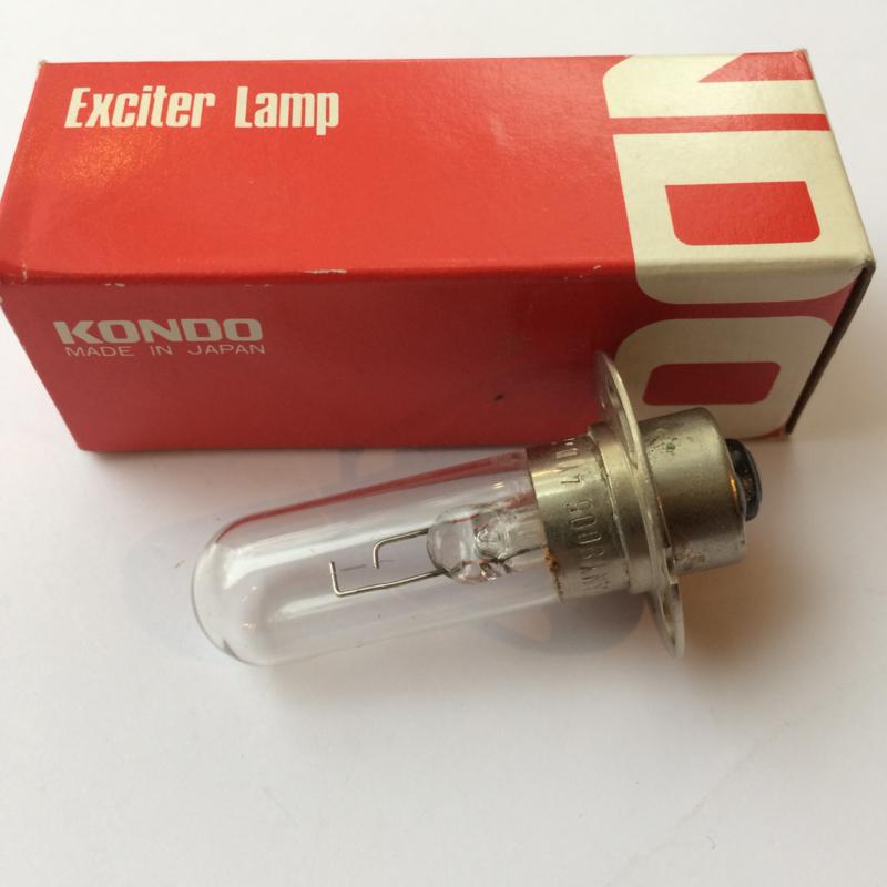 Nr. R183 KONDO/Philips Exciter Lamp 4V/0,75A sokkel P30s, ANSI: BRK - filament vertical - o.a. voor EIKI 16mm projectoren