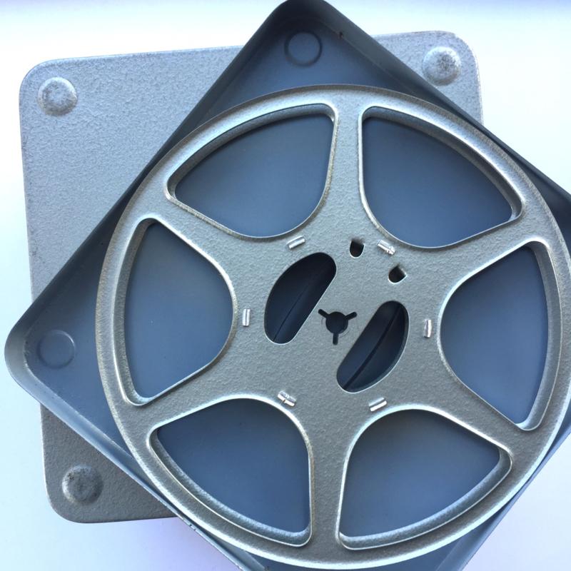 Gebruikte dubbel 8 Posso metalen spoelen voor 120 meter film in metalendoos doorsnee spoel 17,5 cm.prijs per stuk