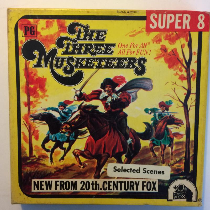 D378 --Super 8--The Three Musketeers,  zwartwit 60 meter Silent in orginele fabrieks doos