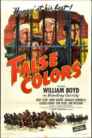 Nr.16309 --16mm-- False Colors (1943) Stars: William Boyd, Andy Clyde, Jimmy Rogers, speelduur 65minuten | Western | 5 November 1943 (USA) mooie zwartwitfilm Engels gesproken met Nederlandse ondertitels compleet met begin/end titels