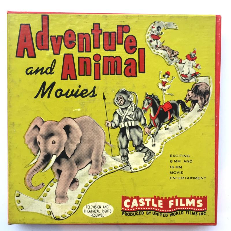 Nr.1606 --Dubbel 8 Silent-- Castle films, Adventure and Animal movie's Carnival in the Zoo, 60 meter zwartwit in orginele doos