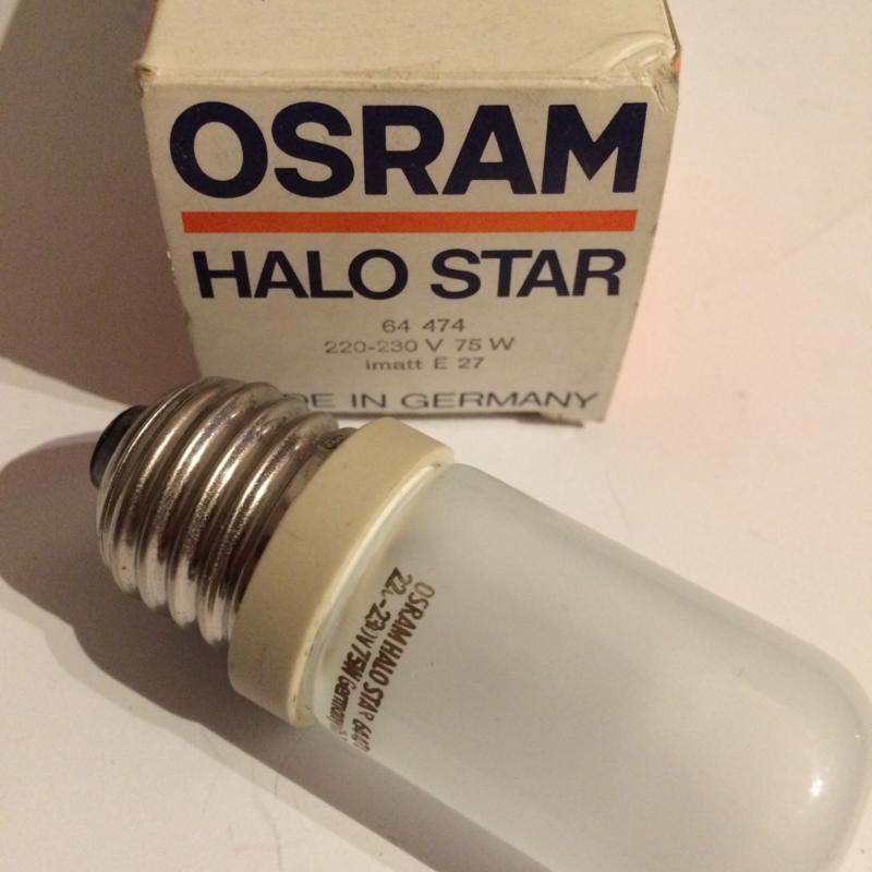 Nr. R164 Osram Halo Star Halogeen gloeilamp 220-230volt 75W - E27 vitting nr.64474