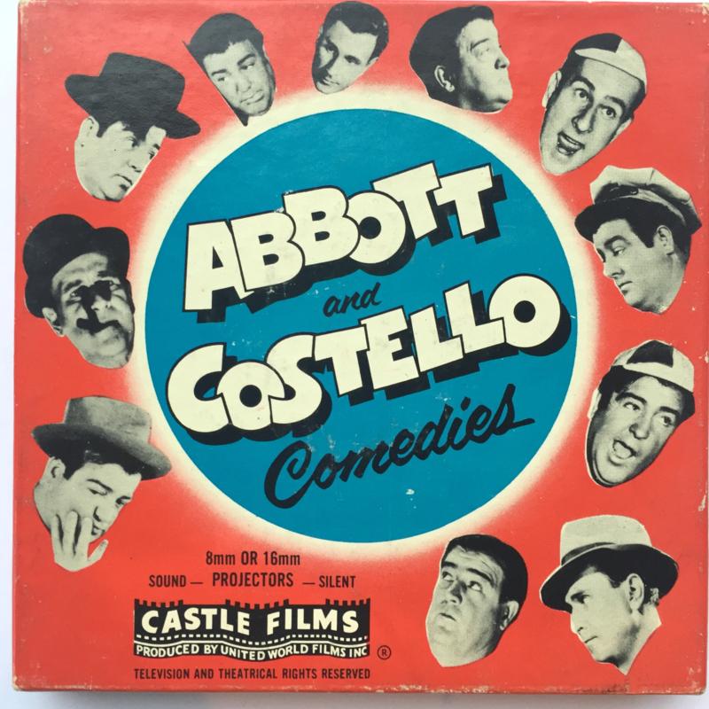 Nr.1602 --Dubbel 8 Silent-- Castle films, Abbott And Costello , No Bukk,s Please, 60 meter zwartwit in orginele doos