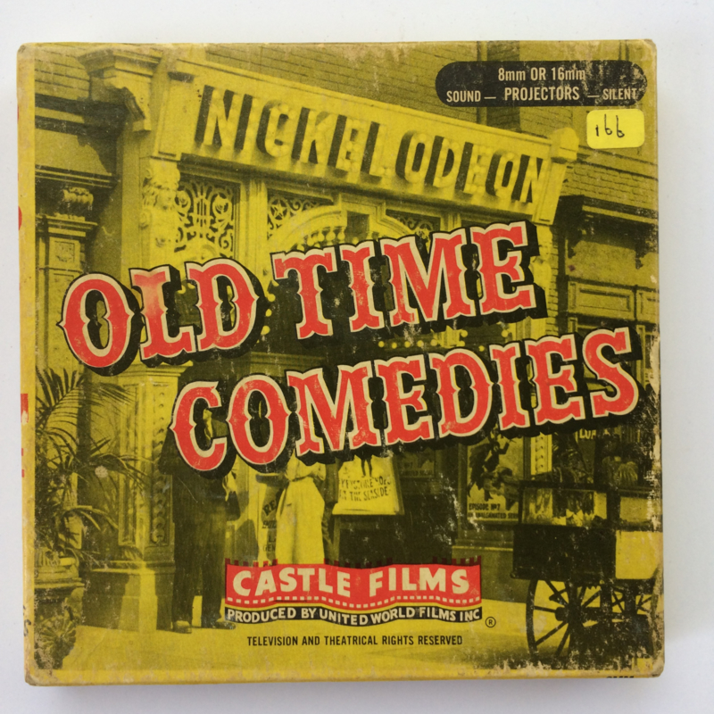 Nr.1598 --Dubbel 8-- Old Time Commedies Castle film B40 Railroad Stowaways, Billy Bivan 60 meter zwsilent in orginele doos 60 meter