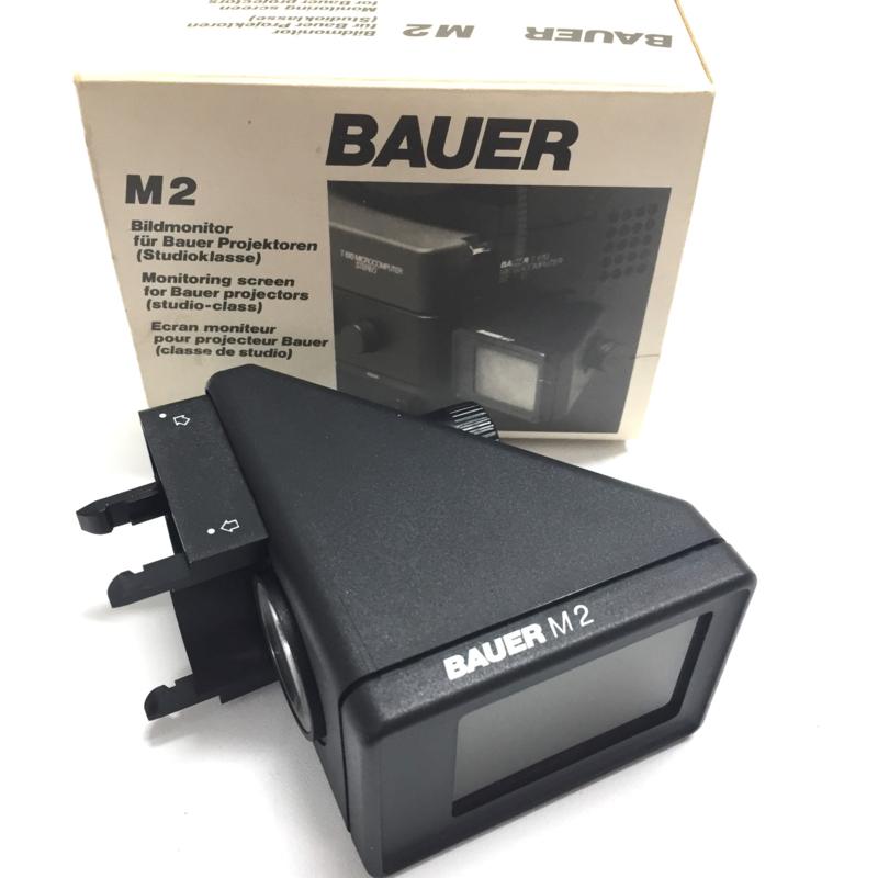 Bauer Monitor M2 voor Bauer Studio-class geluidsprojectoren met handdraaiknop, in orginele doos met handleiding