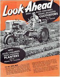 "Nr.16214 --16mm-- jaar 1940  Allis Chalmers 16mm film ""Looking Ahead"" Showing  and research on the various parts of Allis Chalmers tractors. zeer interessante mooie kleuren documentaire van net na de oorlog, Engels gesproken in orginele doos op spoel"