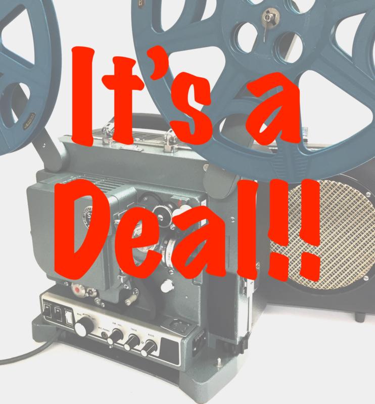 It's a Deal!  ** Alle aangeboden film-projectoren hebben een uitgebreide onderhoud's beurt gehad en indien nodig voorzien van nieuwe lampen en/of onderdelen en natuurlijk langdurig proefgedraaid, zodat U er weer jaren lang plezier van kan hebben.