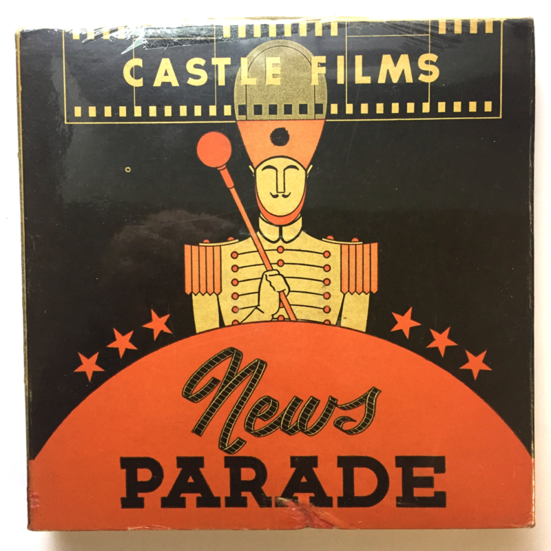 Nr.16340 -- 16 mm -- News Parade Britain's Commando's in Aktion filmed onder Fire, complete edition, prachtige zwartwit film lengte ongeveer 120 meter orginele Castle film, zwartwit silent, compleet met begin/end titels in orginele doos