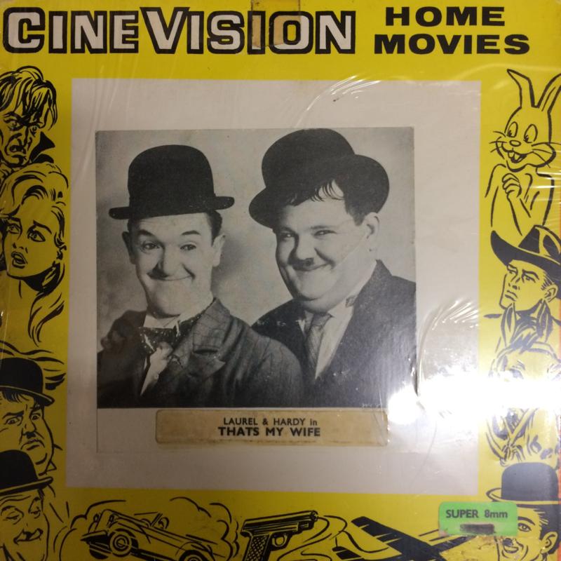 Nr.6503 - Super 8 - Laurel en Hardy Thats my wife, speelduur 20 minuten zwartwit orgineel silent