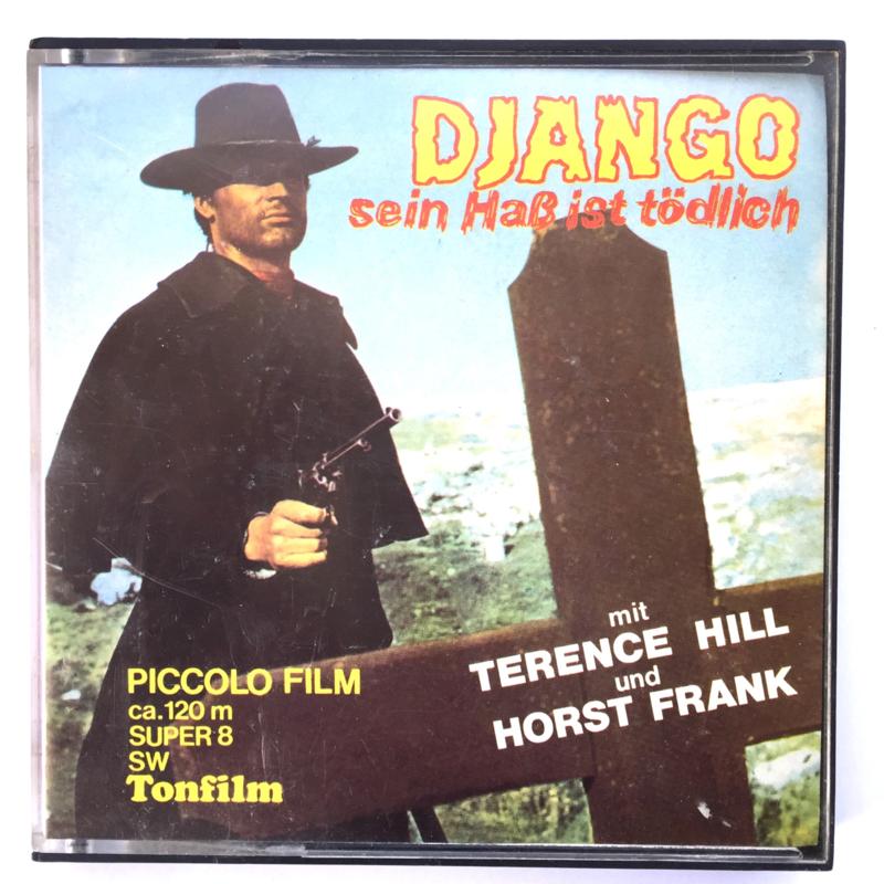 Nr.7263 --Super 8 sound -- Django sein Hab ist Todlich ca 120 meter zwartwit met Duits geluid, goede  copy in orginele doos
