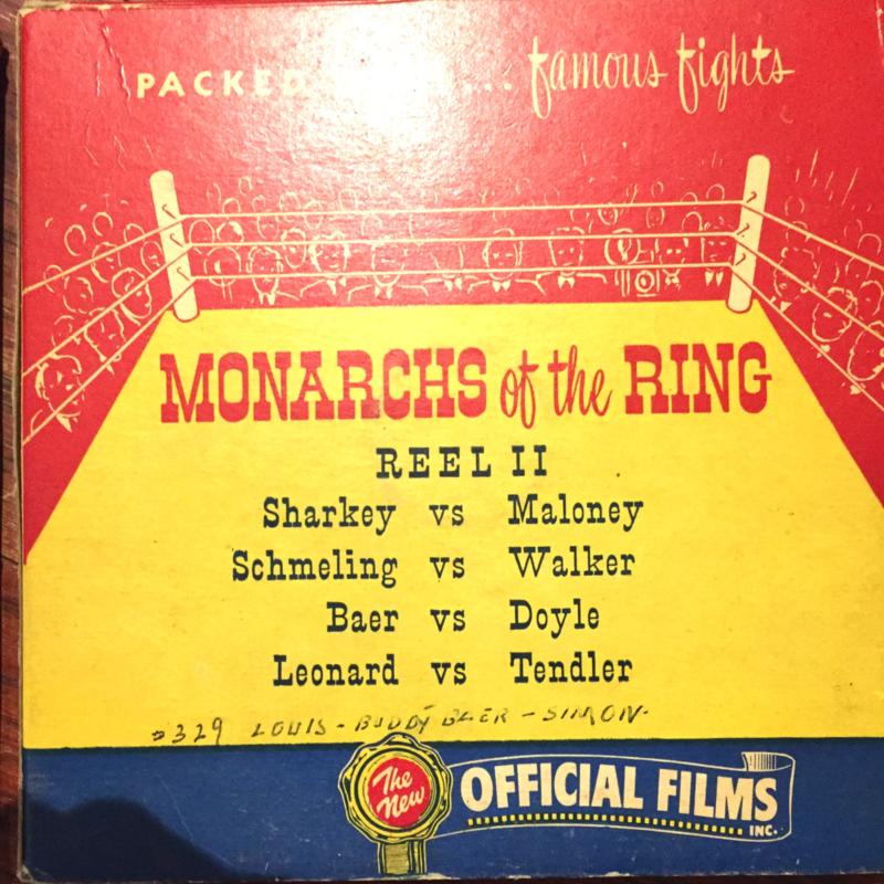 Nr.16347- DEEL 2 -- 16 mm -- Official films Monarchs of the Ring, 120 meter DEEL 2,  prachtige zwartwit film lengte ongeveer 120 meter , zwartwit silent, compleet met begin/end titels in orginele doos
