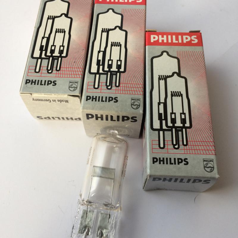 Nr. R145 PHILIPS halogeenlamp zonder spiegel 36 volt 400W type 7787XHP EVD a1/239, G6.35