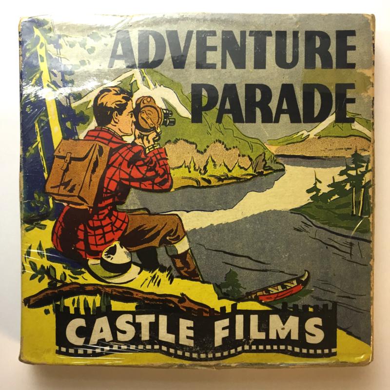 Nr.16325 -- 16 mm -- Castle film, Chimp Step out nr.633 complete edition, prachtige zwartwit film lengte ongeveer 120 meter orginele Castle film, zwartwit silent, compleet met begin/end titels in orginele doos