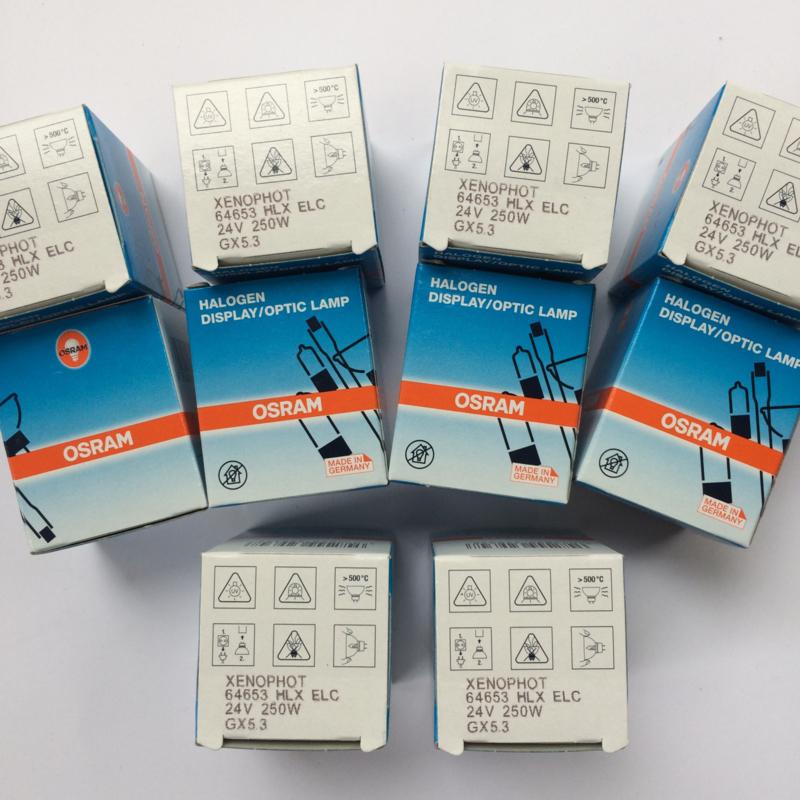 Nr. R121 Osram Xenophot /Philips 24V 250 W ELC GX5,3 met spiegel voor de meeste 16mm projectoren