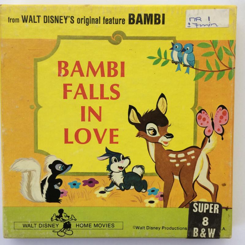 Nr.6669 --Super 8 -- Bambi Fall in Love Walt-Disney, 45m.zwartwi silent in orginele doos