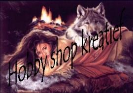 PE 0127 Infdiaanse met wolf
