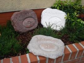 D 1756 Welcome rechthoek steen met inzet