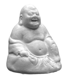 powertex laughing buddha