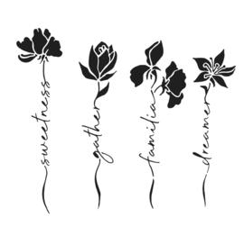 230 : woord flowers