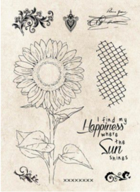 9 clearstamps sunflower nr66