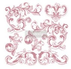 re-design decor stamp elegant scrolls