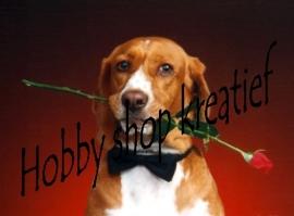 PE 0072 Hond met roos