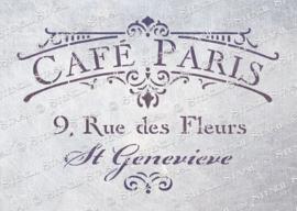 Cafe paris A4