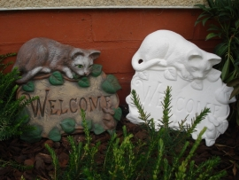 S 3836 Welcome schild met kat