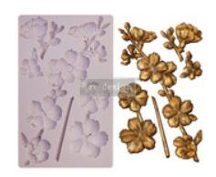 re-design silicone mould botanical blossems