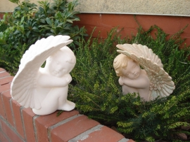 S 3066 Medium engel hoge vleugels rechts kijkend