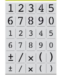 135 :  alfabet cijfers Courier