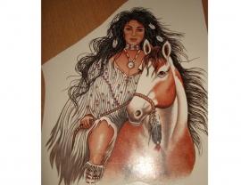 Transfer: Squaw met paard