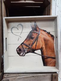 dienblad bruin paard