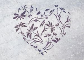 5 : Lace heart A4