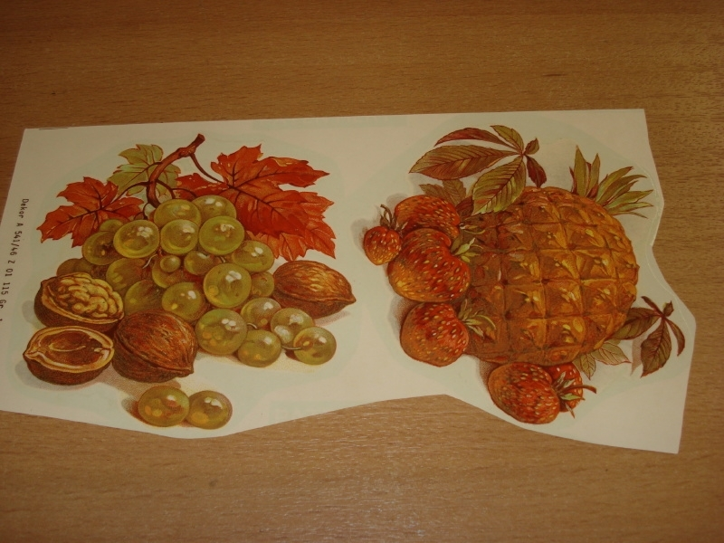 Transfer: Fruit druiven noten - ananas aardbei