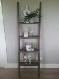 Steigerhouten decoratie ladder 170 x50 taupe