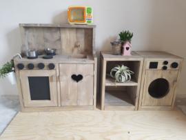 keukentje, wasmachine en kastje