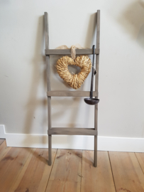 decoratie trapje 90x30 met hart en lepel