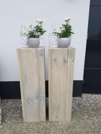 zuil steigerhout 100x30x30 grijs