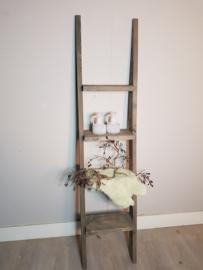 decoratie ladder 170x40x16 taupe