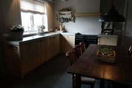 Hoek keuken aanrechtblad