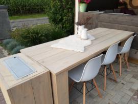 tafel 220x97x78 met blokpoten 250euro