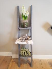 decoratie ladder 130x30 steel wool
