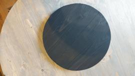 Dienblad rond zwart 35cm